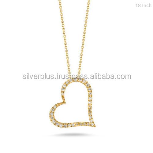 not 14K Solid 18K Yellow Gold Natural Damond Heart Bracelets