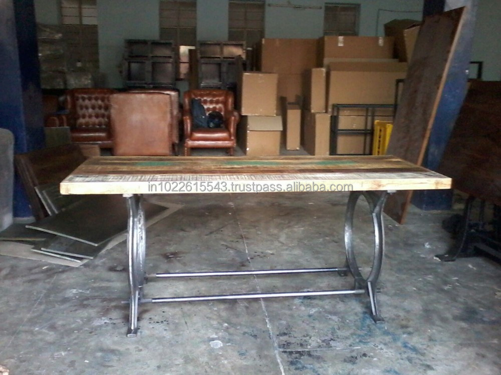 Metro Vintage Dining Table Set Reclaimed Bar Dining Table