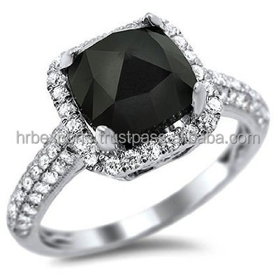 Rare Big Sizes Black Diamond Ring14k White Yellow Gold Diamond Engagement Ring Cheapest Black Diamond Ring India Buy 24k Gold Diamond Ring 18k Yellow Gold Ring Black Diamond Ring Cheap Diamond Engagement Rings Under 100