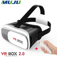 10pcs/lot VR BOX V2.0 3.5-6.0 inch Virtual Reality 3D Game Video Glasses Bluetooth 3.0 Controller for Samsung Apple HTC LG etc.