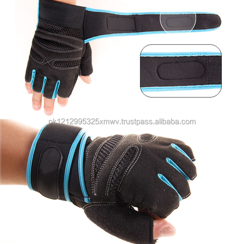 Weight Lifting Neoprene Pads Gym Training Fitness Gloves Grip Cycling Wrist Wrap