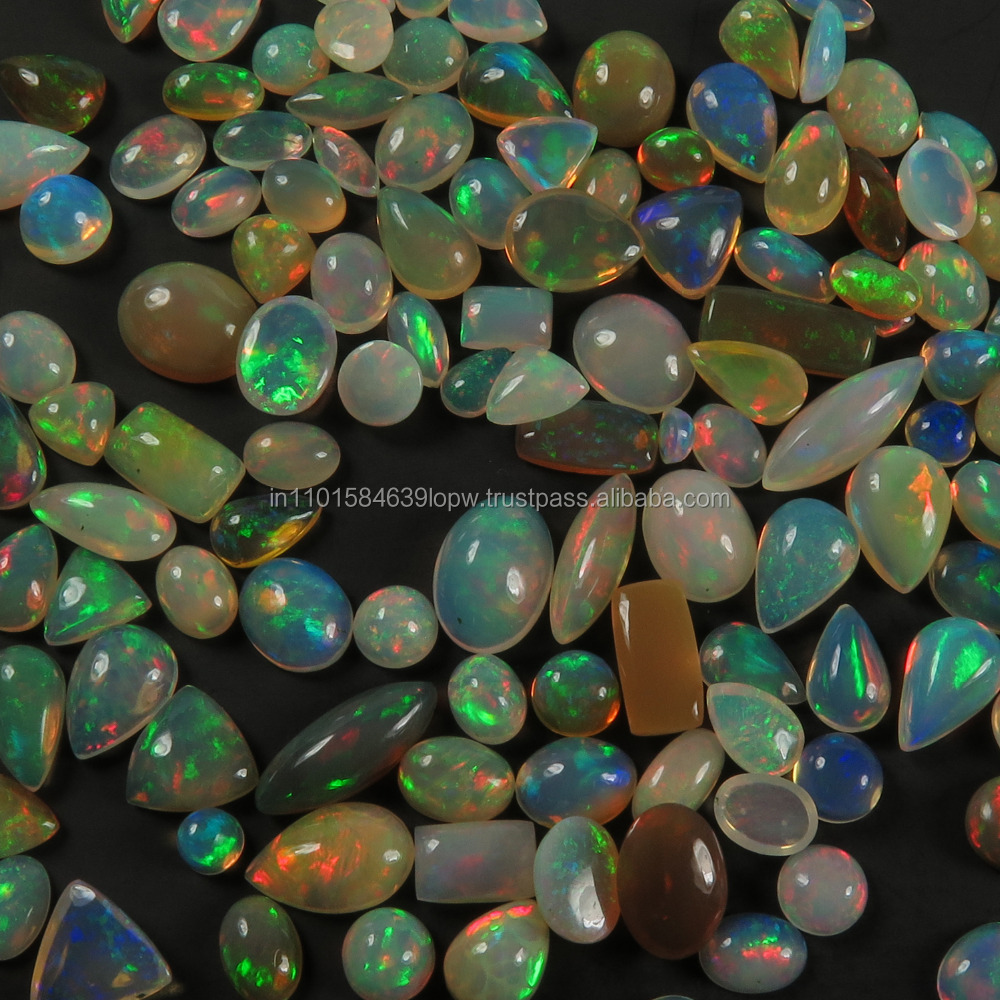 6x8mm Size High Quality Welo Ethiopian Opal Cb#1495 Oval Shape Gemstone Smooth Loose Cabochon 5 Pieces Of Natural Ethiopian Opal