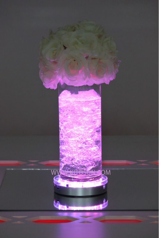 3 Pieces Lot Centerpiece Wedding Ideas Round Led Light Base Multicolor Rgb Remote Uplighter