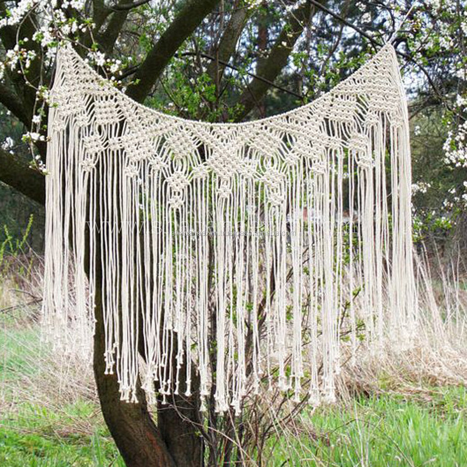 Vintage Bohemian Window Coverings Wall Hanging Macrame Curtains Buy Luxury European Style Window Curtain Christmas Wedding Backdrop Wall Hanging Curtain Product On Alibaba Com