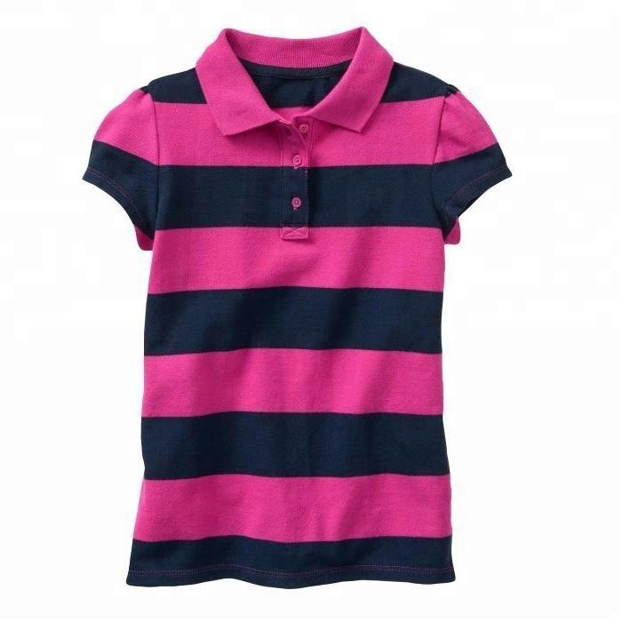Striped Polo Shirt For Girl Kids - Buy Polo T Shirts For Girls,Girls Striped Polo Shirts,Girls Polo Shirts Product on Alibaba.com