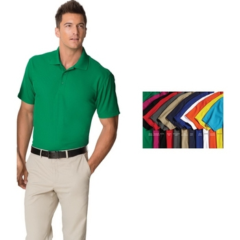 Port Authority Dry Zone Grid Polo Shirt - 100% polyester, wicks moisture and controls odor and comes with your logo