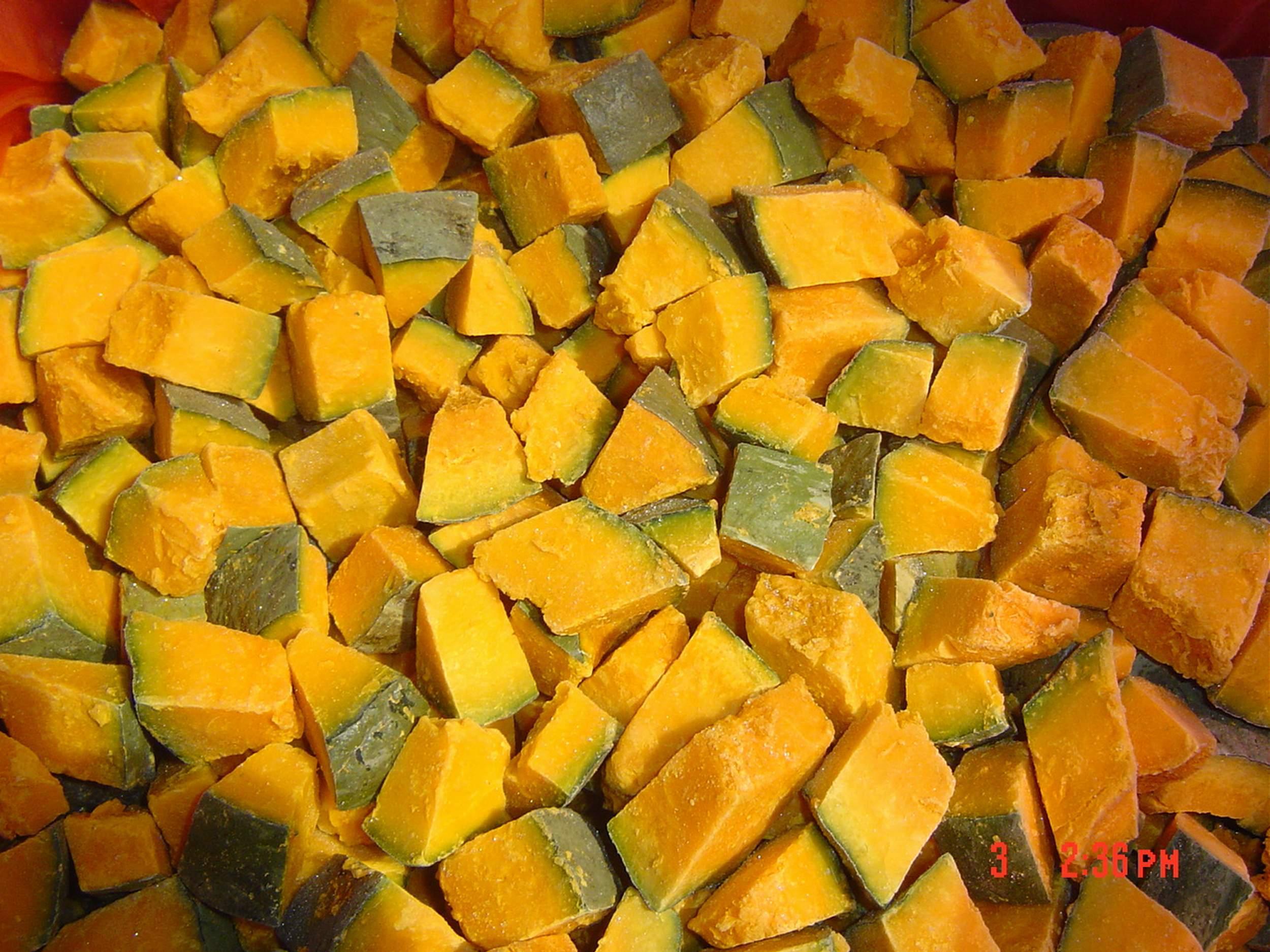 2018 Vietnamese high quality Frozen Diced Pumpkin IQF in 2020