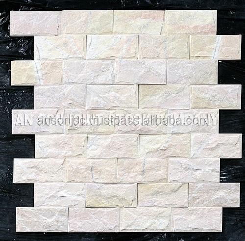 Vietnam Wall Cladding Stone - Yellow Pink Mushroom Marble (AS JSC)
