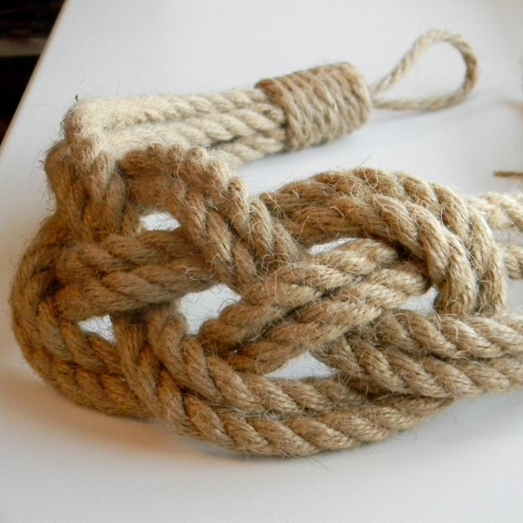 Jute Natural Rope Curtain Tie Backs