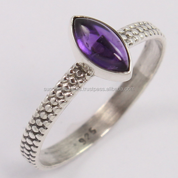 Amazing Natural AMETHYST 925 Sterling Silver Ring, Marquise Shape Gemstone Ring, Fine Silver Jewellery