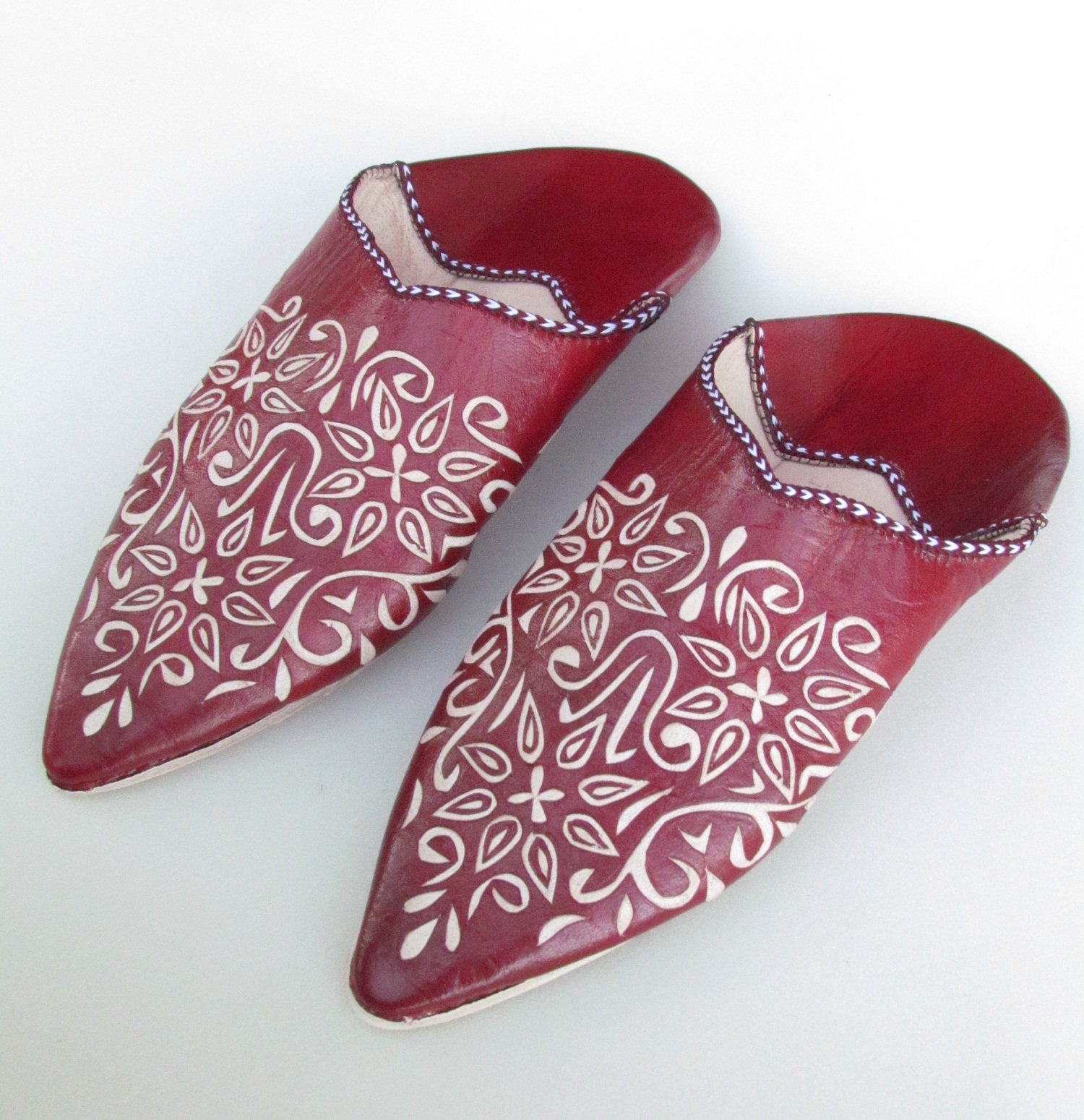 leather mule sandals women 6S4 Handmade leather indoor house mule slippers for women camel moroccan womens slippers