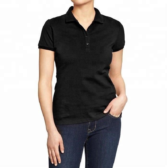 Women's Black Polo T Shirt - Buy New Design Polo T Shirt,Polo Shirt Women,Custom Polo Shirt Product on Alibaba.com