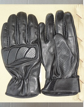 Custom Protective Professional Black Pro Biker Gloves