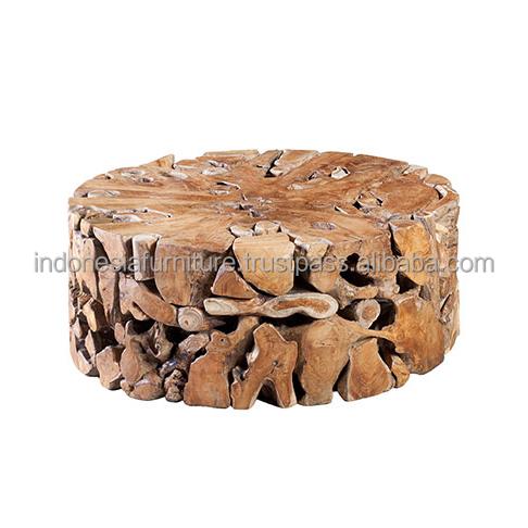 Kruglyj Zhurnalnyj Stolik Iz Tika Buy Wooden Coffee Tables Teak Root Coffee Table Round Coffee Table With Stools Product On Alibaba Com
