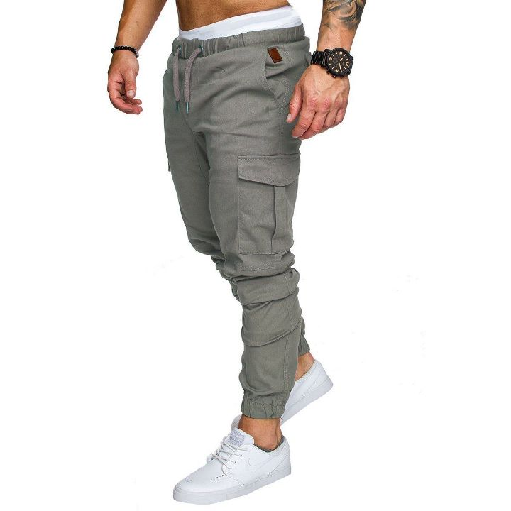 Men/'s Casual Slim Fit Summer Pencil Jogger Cargo Pants Straight Leg Trousers