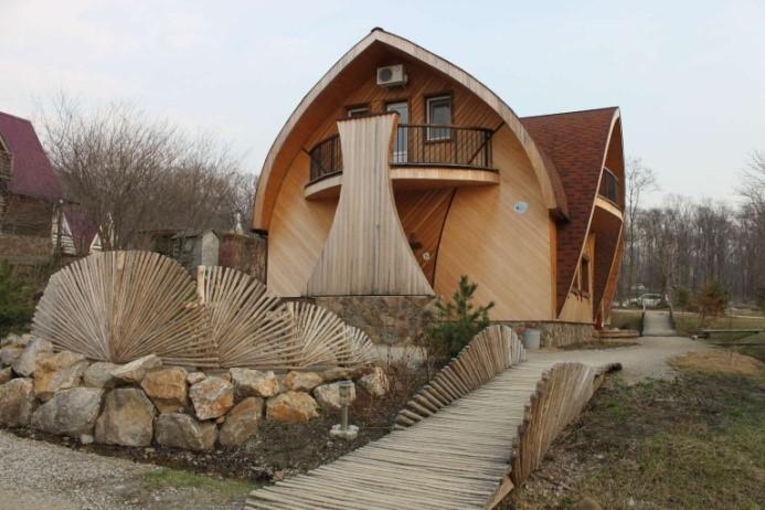 Современный комплекс арт-парка для отдыха