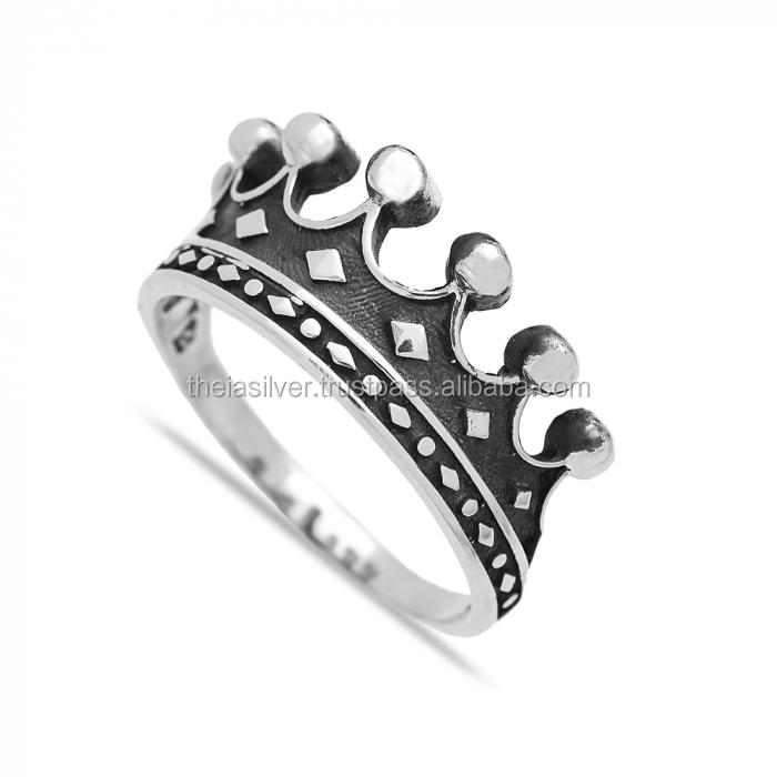 Details about  /Fashion Design Crown 925 Sterling Silver Black Zircon Men/'s Woman/'s RING