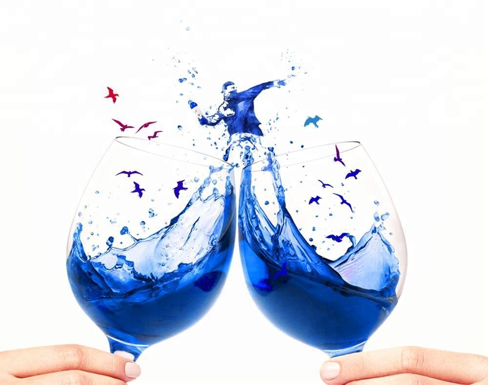 Good Price Blue Wine with 1.88 Euro/Bottle OEM FREE Made in Spain