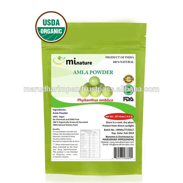 Mi Nature Amla порошок (USDA органический) 227 г/0,5 фунтов
