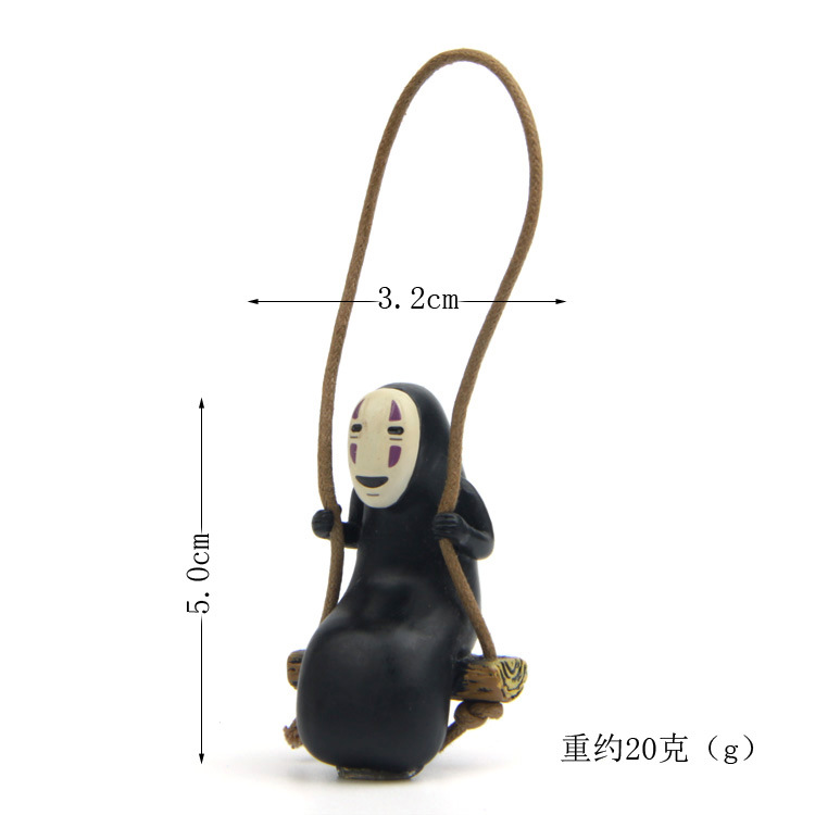 Spirited Away Creative Micro Landscape Horticultural No Face man Figurine Doll