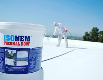 ISONEM THERMAL ROOF PAINT HEAT REFLECTIVE INSULATION COATING, ENERGY SAVING ECOLOGICAL ROOF PAINT