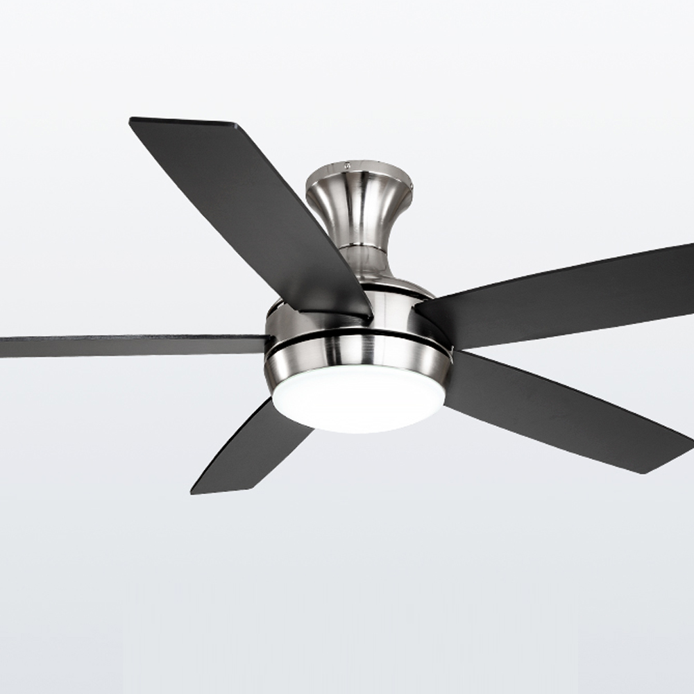 1stshine 52 inch 5 plywood blades decorative modern indoor AC 220V low profile ceiling fan with LED lights ceiling fans
