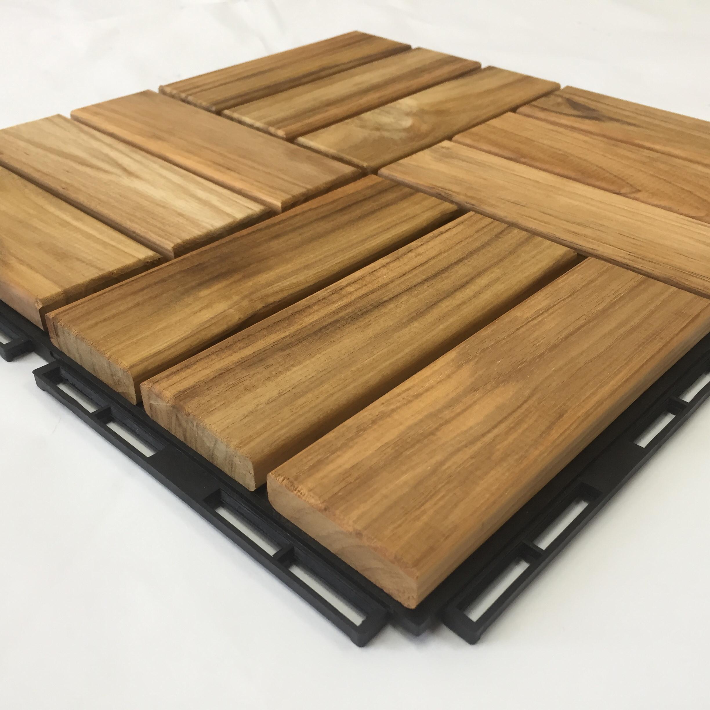 Balcony Teak Wooden Deck Tiles Vietnam