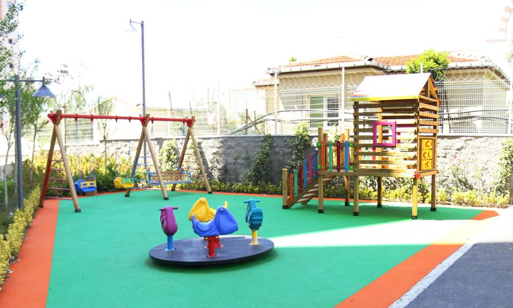 Playground Accessories Wooden House Mae-009 Outdoor Playground