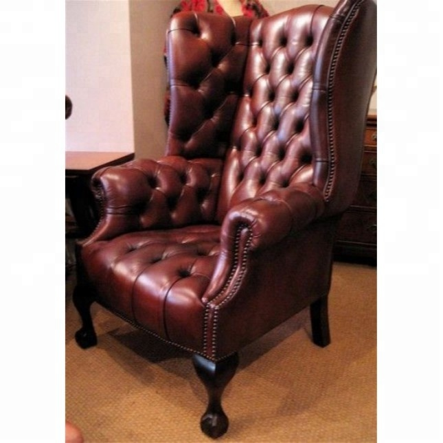 High Back Georgian Wing Chair Leather Chair Antique And Reproduction Leather Chairs Buy Antique And Reproduction Leather Chairs Leather Arm Chair Genuine Leather Arm Chair Product On Alibaba Com