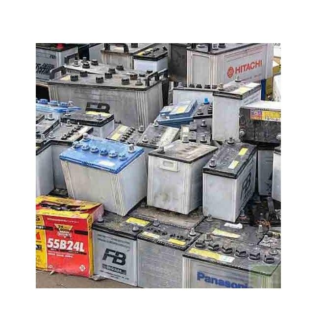 Использованные дренажные свинцово-кислотные аккумуляторы