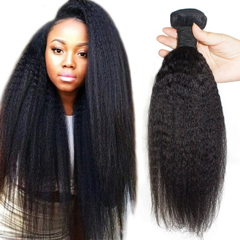 weft 18 long weave double drawn, bulk virgin 10A grade Kinky Straight yaki braiding 100% human Bulk Human Hair and frontal