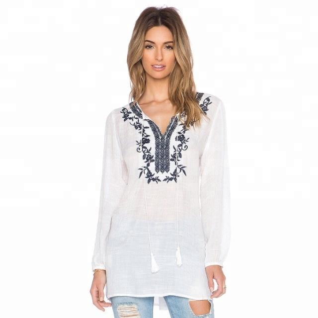 Hand Embroidered Custom Long Sleeve Shirt