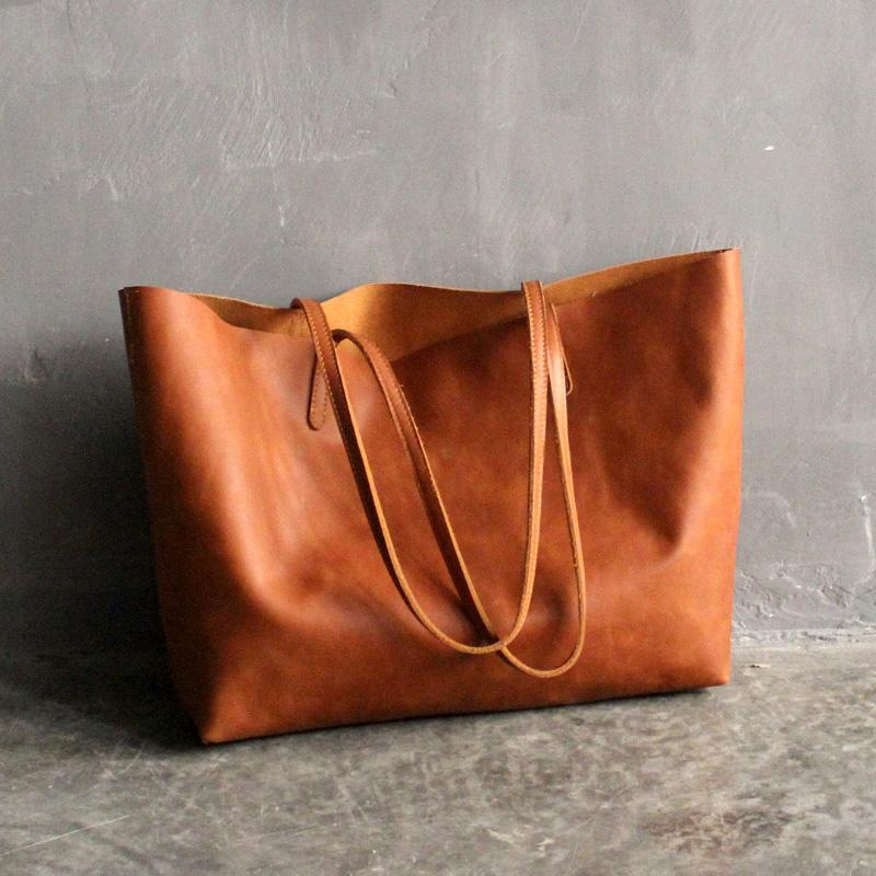 Handmade Women's Fashion Leather Tote Bag Handbag - Buy Handbag,Leather Bag,Lady  Handbag Product on Alibaba.com