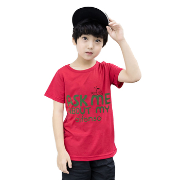 DR180106BG002 Fashion design kids clothes wholesale kids t shirt cheap boy t shirt high quality children t shirt ready to ship