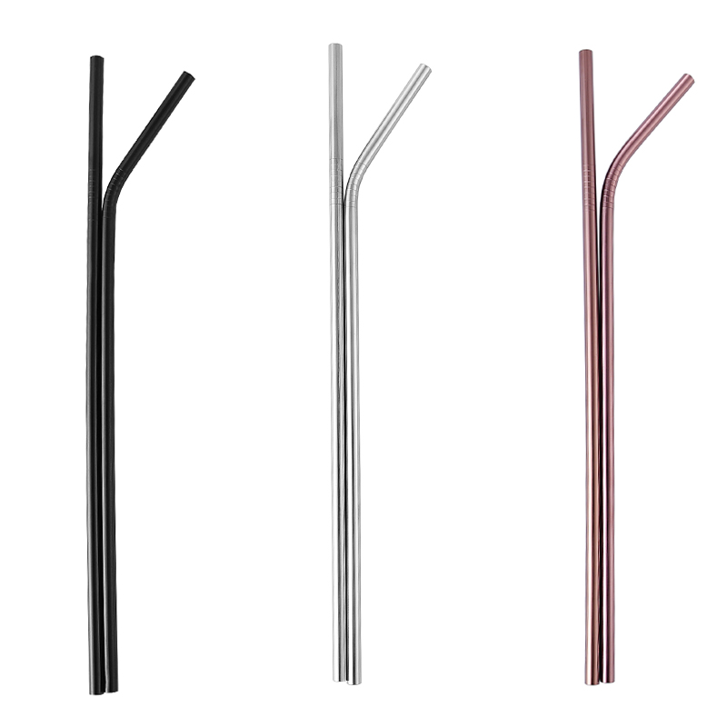 304 Drinking Stainless Steel Reusable Customized Logo Metal Straw With Case