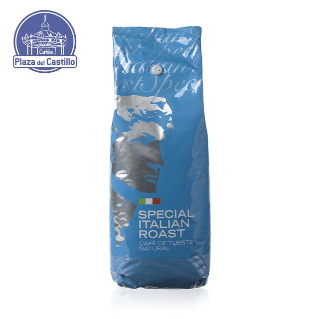 Натуральное обжаренное смешанные кофейные зерна арабика и робуста-итальянские р-| Кафе Plaza del Castillo