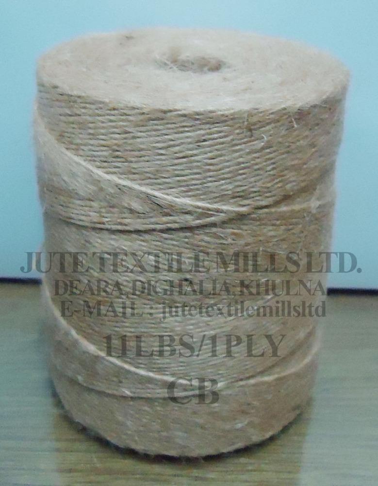 Bangladeshi Jute yarn CB Quality 100% tosha 11 LBS 1 PLy CB High quality & Breaki ASPstrenght Oil contant & buyer requirement