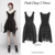 Punk Rave Gothic black sleeveless layered laced skirt asymmetric hem synthetic vegan leather details skater dress WQ-384