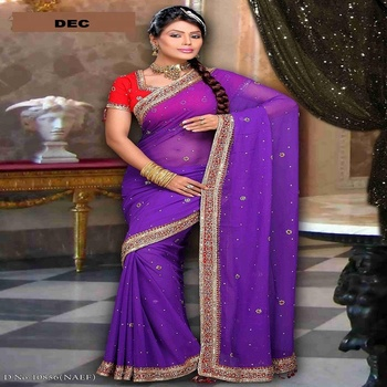 INDIAN DESIGNER SAREE SARI BY D.E.CORP