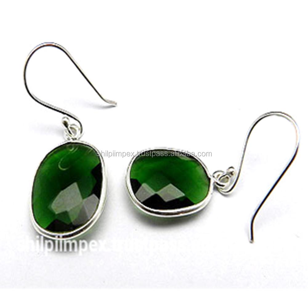 Gift for Her Emerald Hydro Earrings Drop /& Dangle Earrings Bridesmaid Earring Gift 925 Sterling Silver Jewelry