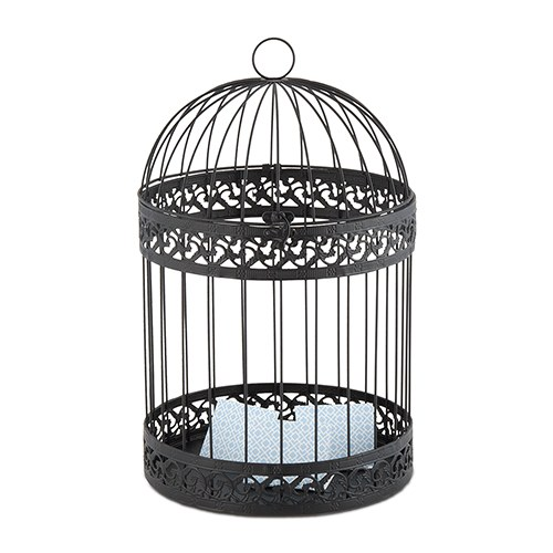 Small Deco Bird in Black