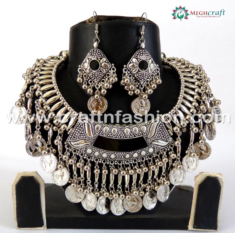 Navratri Oxidised Plated Jewellery- Traditional Costume Jewellery Set, View  antique jewellery, ELEGANCE Product Details from MEGH CRAFT ENTERPRISE on  Alibaba.com