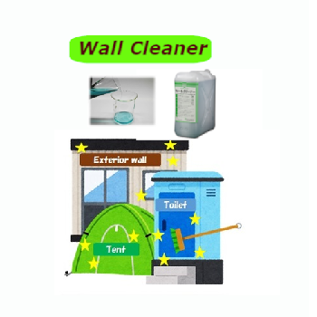 Japan eco-friendly exterior wall wash alkaline cleaning chemicals