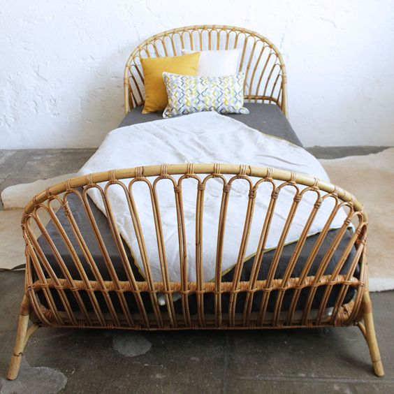Many New design of rattan bed french rattan bed