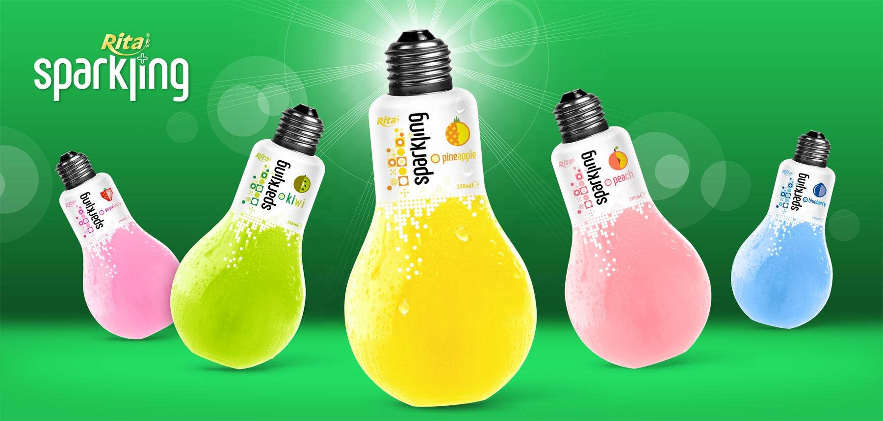 Vietnam High Quality Beverage 330ml Pet Bottle Peach Flavor Carbonated Drink