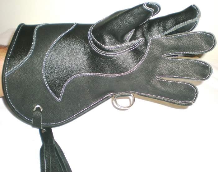 """Nubuck Leather Double Skinned Falconry Glove UK logo 12/"""" Large Standard Size"""