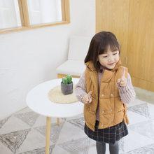 WLG для мальчиков и девочек зимние толстые без рукавов парки детская повседневная одежда Водолазка Теплый жилет Детские хлопковые универсал...(Китай)