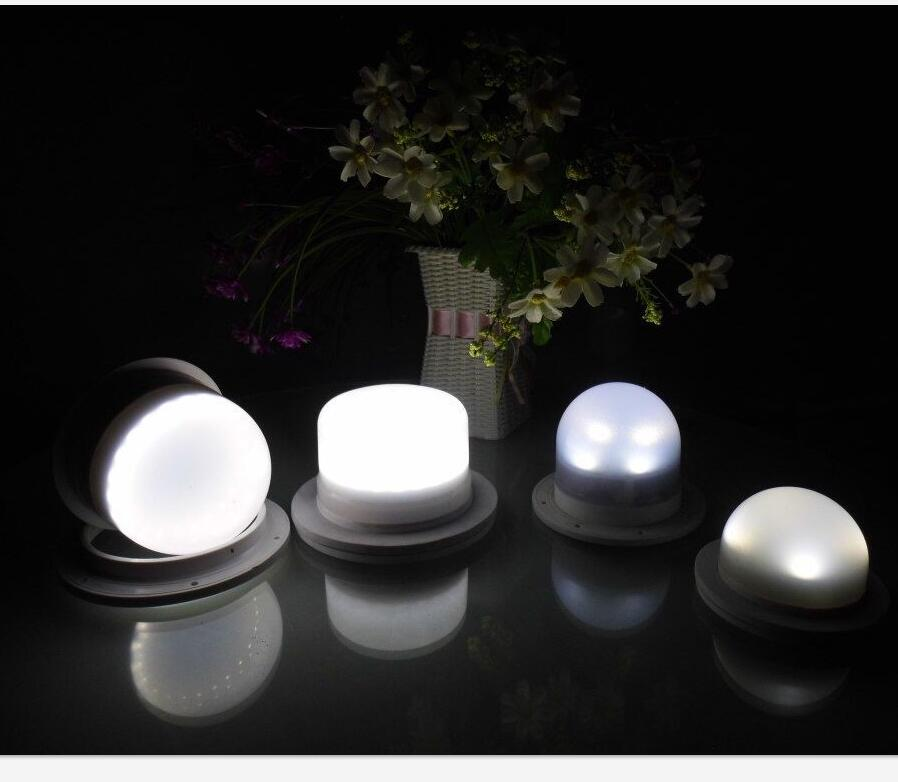 Wedding Decoration Rechargeable Lithium Battery Powered RGBW Color Changing Waterproof Under Table Lights with Remote