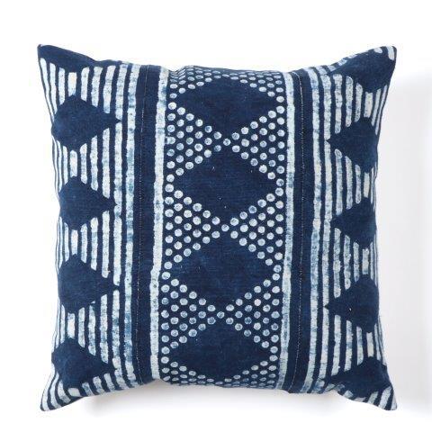 pillow covers Lot of 3 Square cushion covers Mali indigo fabric