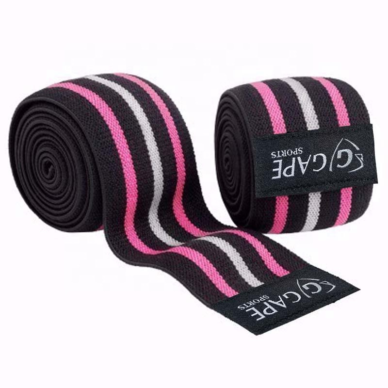 Adjustable knee wraps powerlifting bodybuilding squat pressing knee wraps weight lifting training knee support wraps
